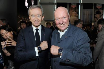 Bernard Arnold und Jean-Claude Biver präsentieren ihre Connected Watch.